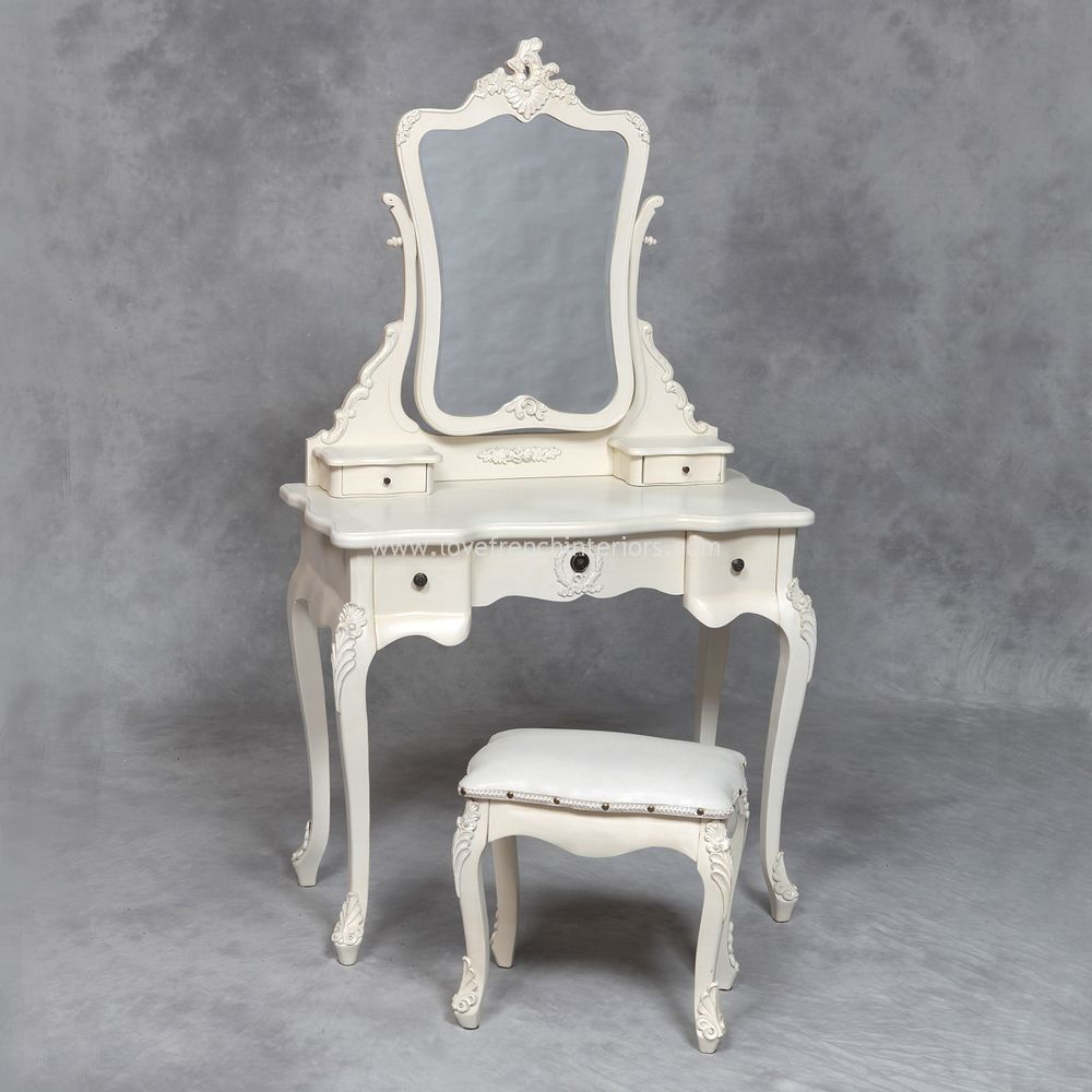 A Dressing Table Set in Cream