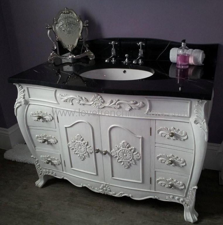 Bespoke louis sink vanity unit with solid marble top - Marble vanity units ...