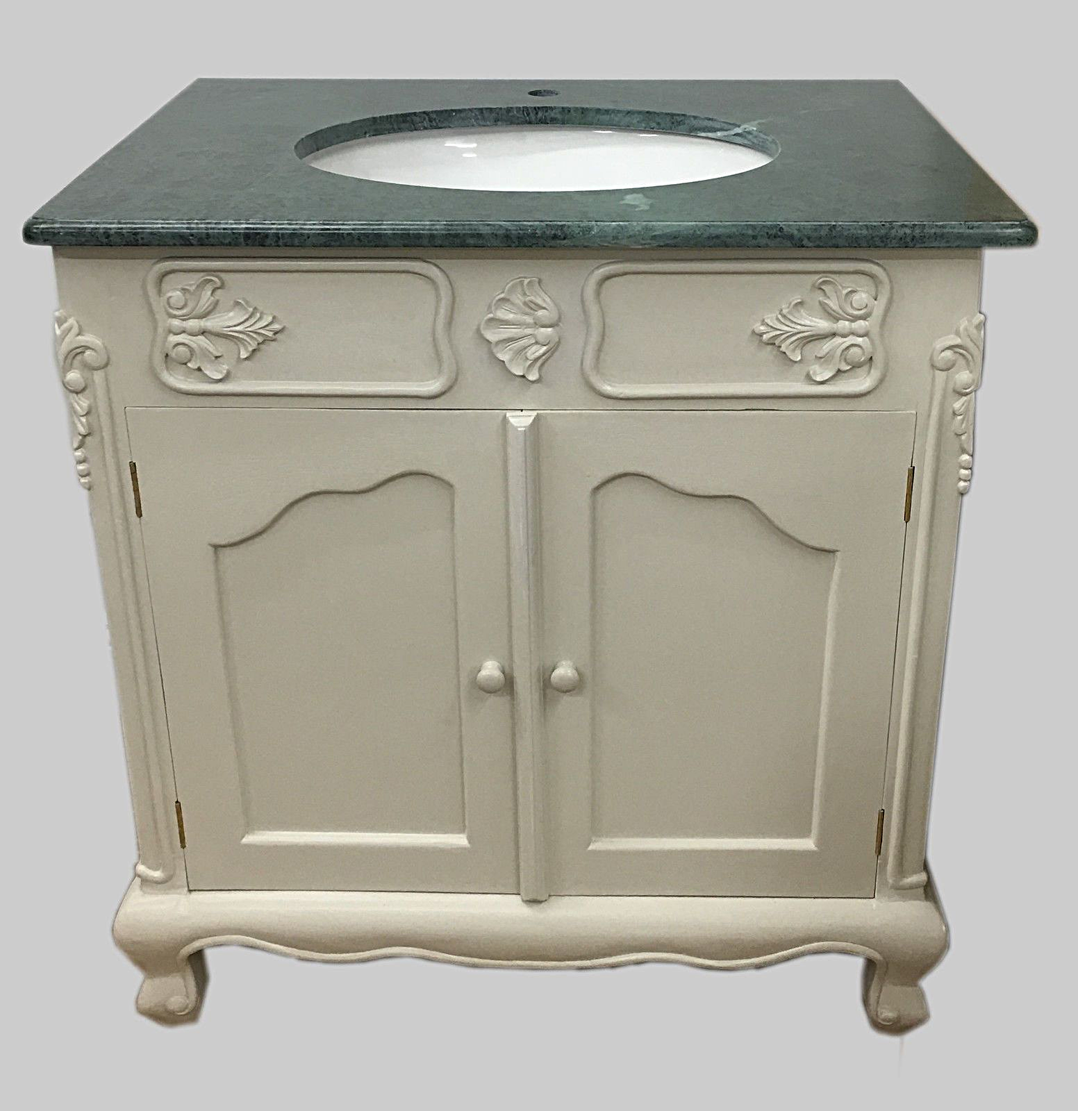 bespoke rectangular sink vanity unit with solid marble top