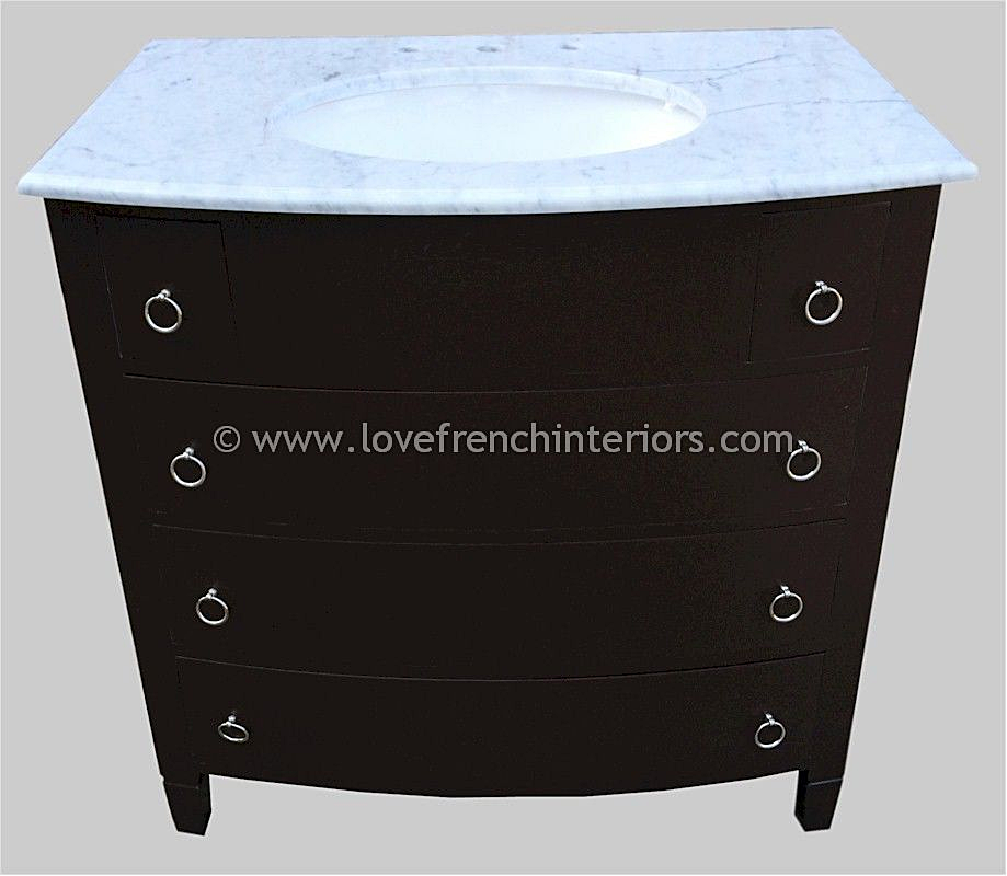 Bespoke Single Sink Vanity Unit With 5 Drawers