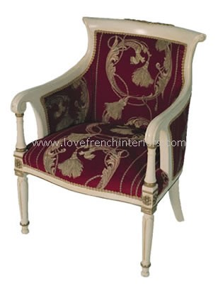 Bespoke Tub Armchair with Carved Top