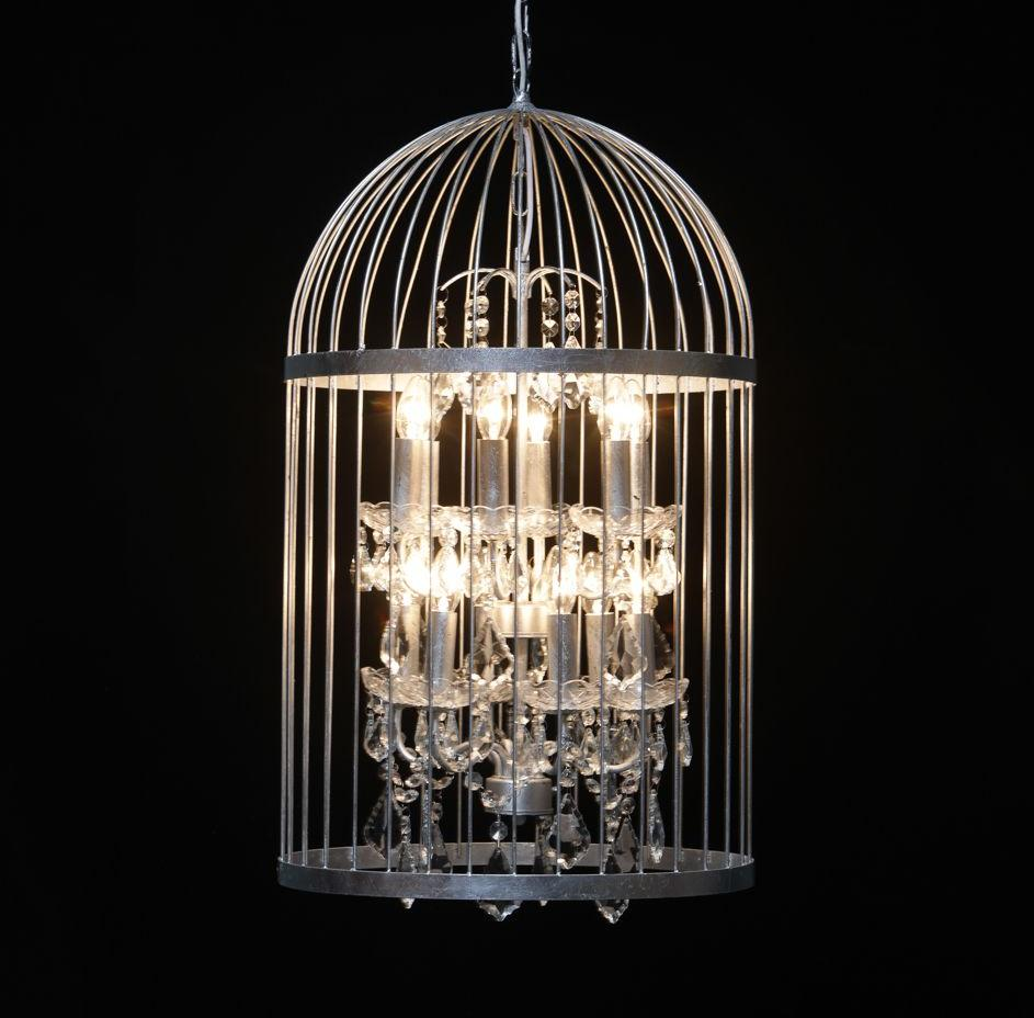 Bird cage chandelier in antique silver large arubaitofo Image collections
