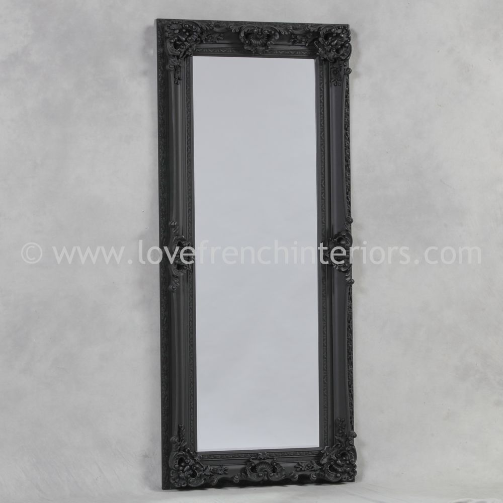black tall and slim mirror