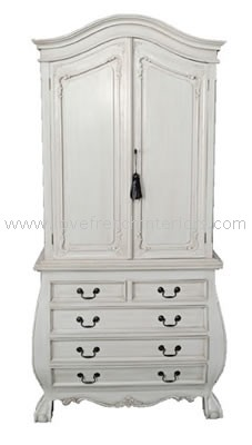Bombe Base Cabinet with 5 Drawers