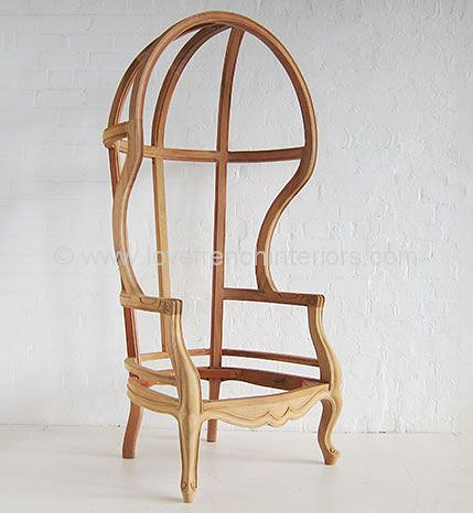 French Upholstered Porters Chair