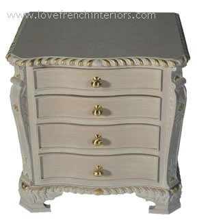 George III Serpentine 4 Drawer Bedside