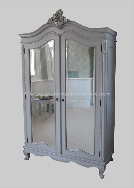 louis bespoke mirrored french armoire wardrobe. Black Bedroom Furniture Sets. Home Design Ideas