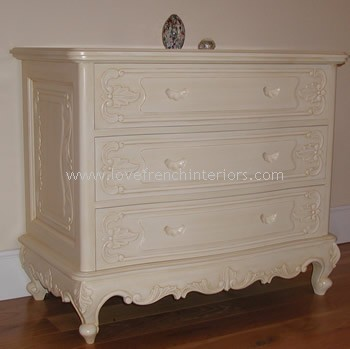Louis Three Drawer French Chest