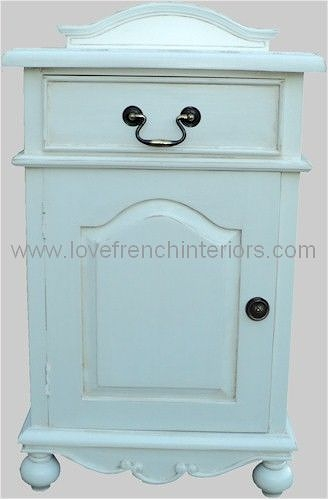 Rochelle Star 1 Drawer French Bedside in your choice of colour
