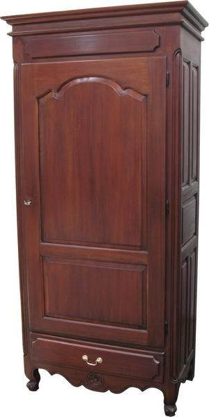 single louis philippe armoire in mahogany. Black Bedroom Furniture Sets. Home Design Ideas