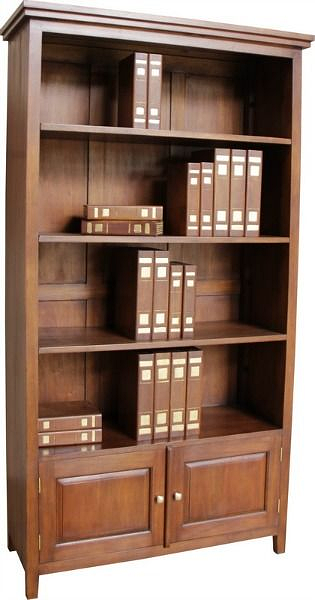 Tall And Wide Bookcases ~ Tall and wide bookcase with two cupboards in mahogany