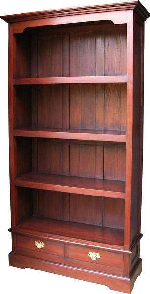 Tall And Wide Bookcases ~ Tall and wide bookcase with two drawers in mahogany