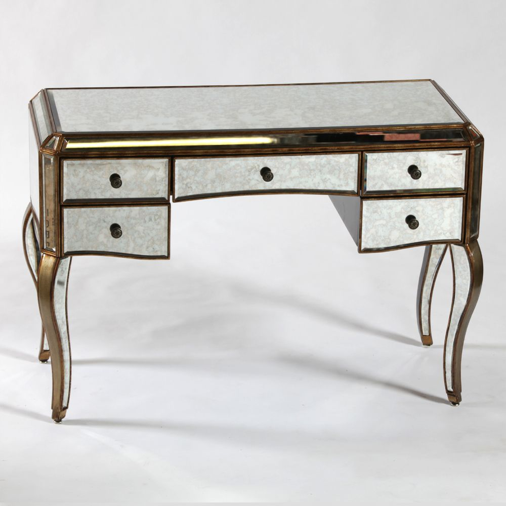 Venetian Antique Mirrored Gold Edged Dressing Table