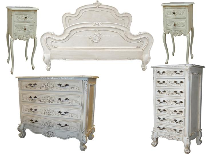 1 antique white bedroom set 14020 | 1 antique white bedroom set 1497 p