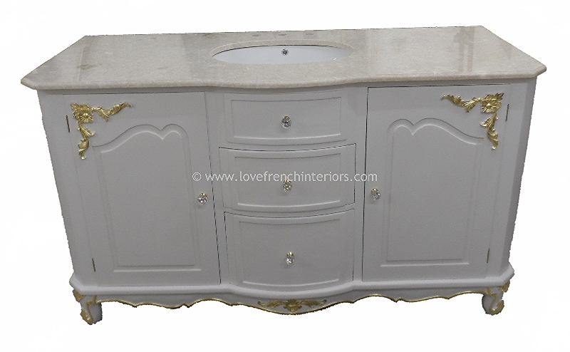 Bespoke Bow Front Single Bowl Vanity Unit