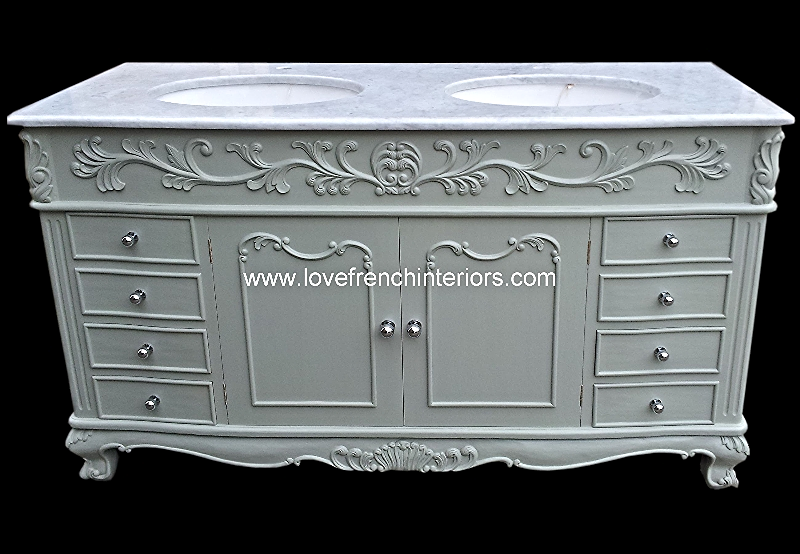 Wondrous Bespoke Double Bowl French Vanity Unit With Solid Marble Top Complete Home Design Collection Papxelindsey Bellcom