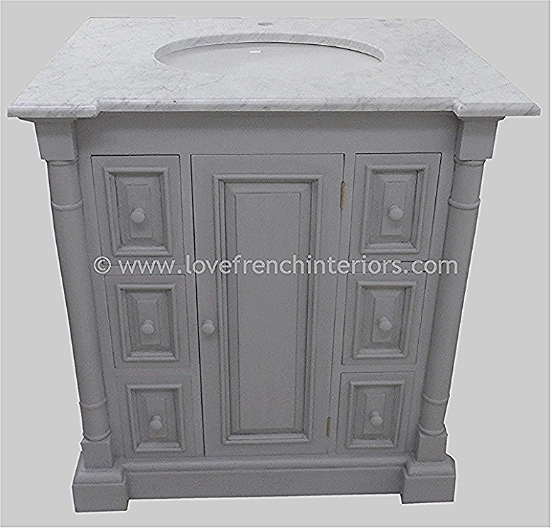 Bespoke Single Sink Vanity Unit with Drawers