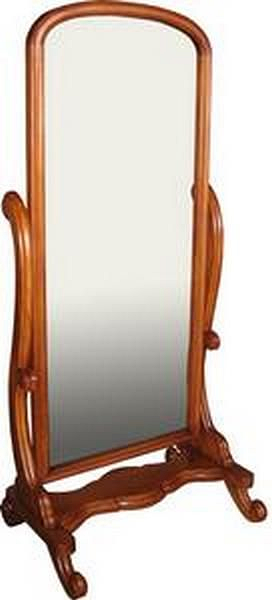 Cheval Mirror with Mahogany Frame