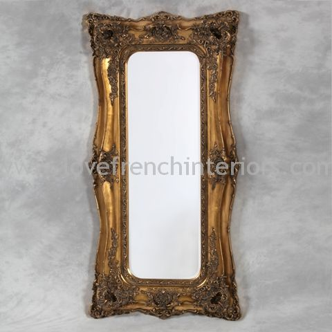 Classic Styled Gold French Slim Mirror