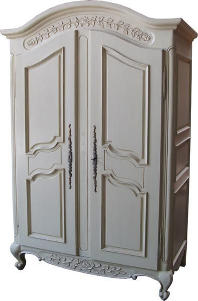 Curved Top Armoire with Panelled Doors