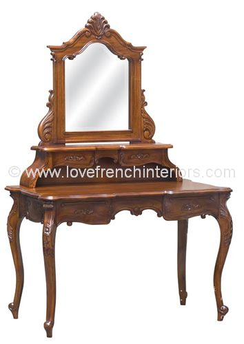 French Dressing Table in Mahogany