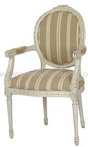 French Oval String Back Carver Chair