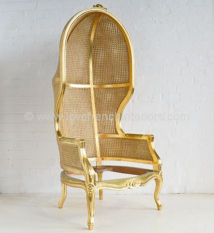 French Porters Chair with Rattan