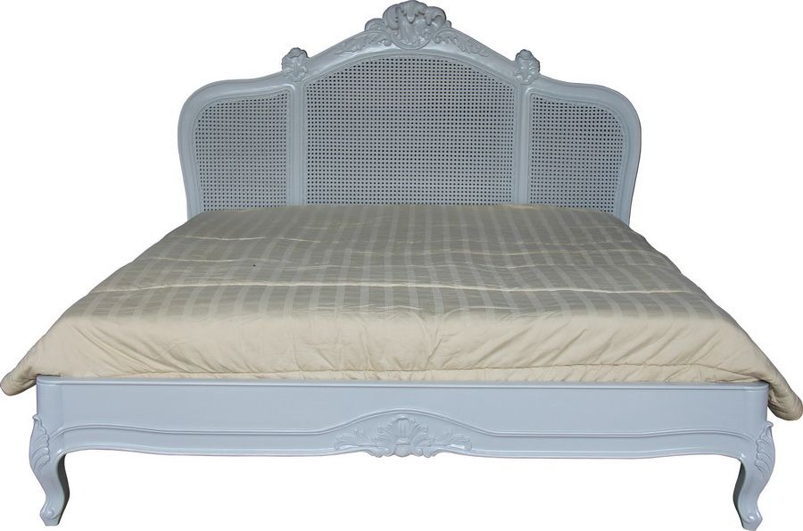 French Rattan Bed With Low Footend