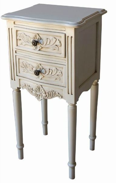 French Rococo Bedside with Fluted Legs