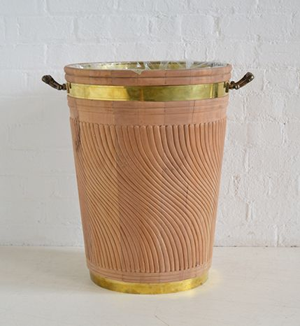 Georgian Irish Peat Bucket Large Wavy Carving