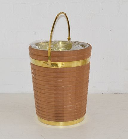 Georgian Irish Peat Bucket Small Horizontal Stripe
