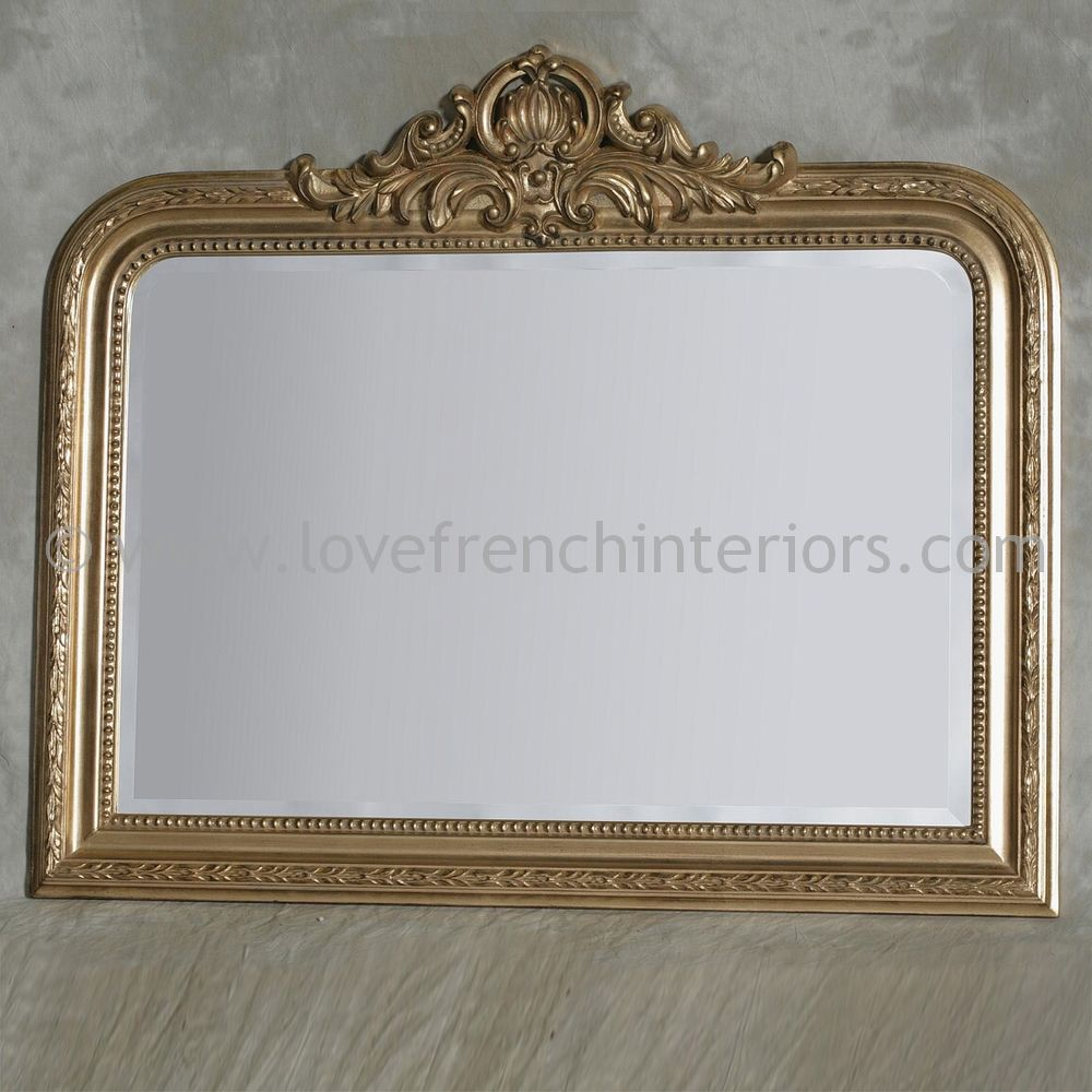 Gold Overmantel Mirror 2