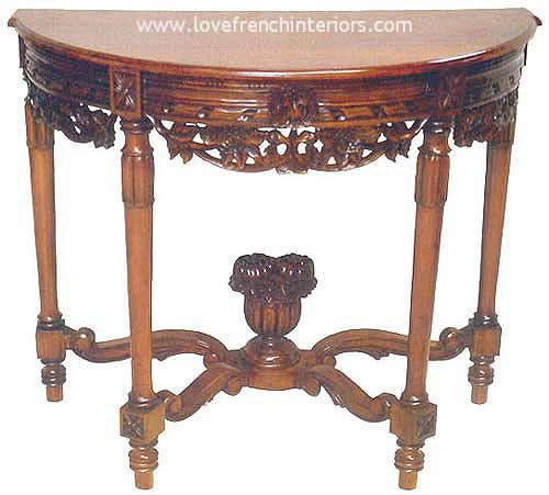 Louis Console / Hall Table in Mahogany