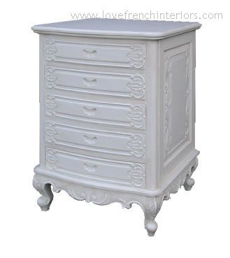 Louis Five Drawer French Chest