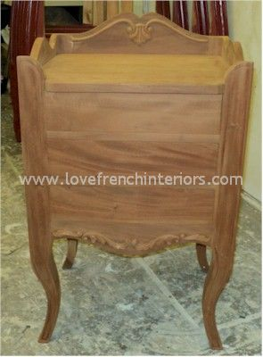 Louis XV 3 Drawer Bedside