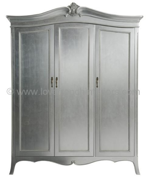 Paris Silver Triple Wardrobe