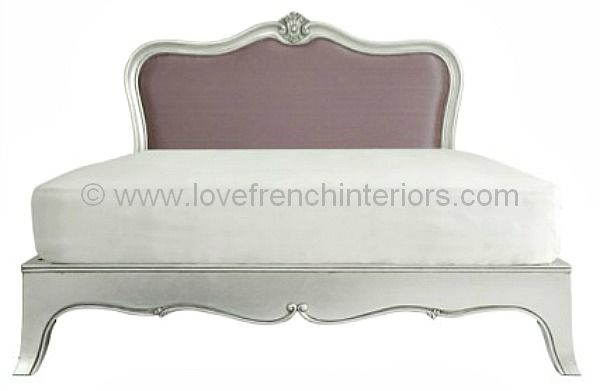 Paris Silver Upholstered Bed