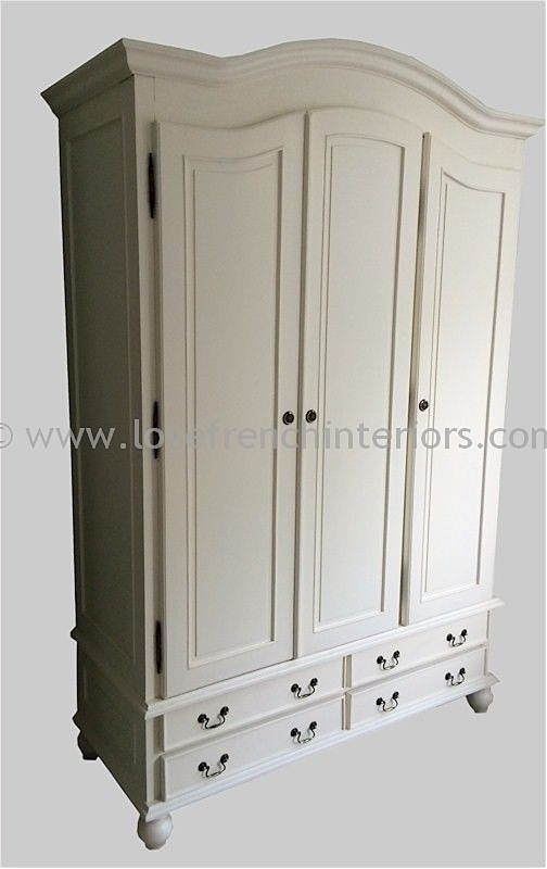 Rochelle Star Triple Wardrobe with Four Drawers