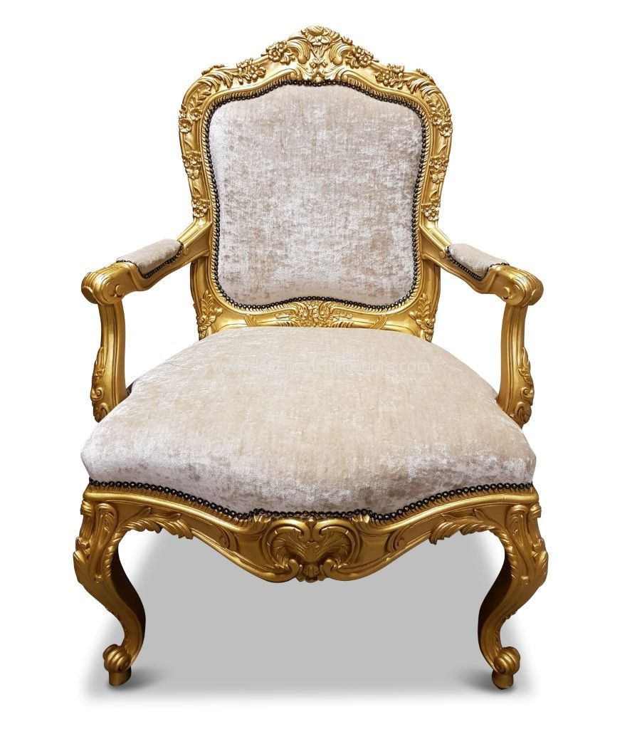 Rococo Carved Salon Chair