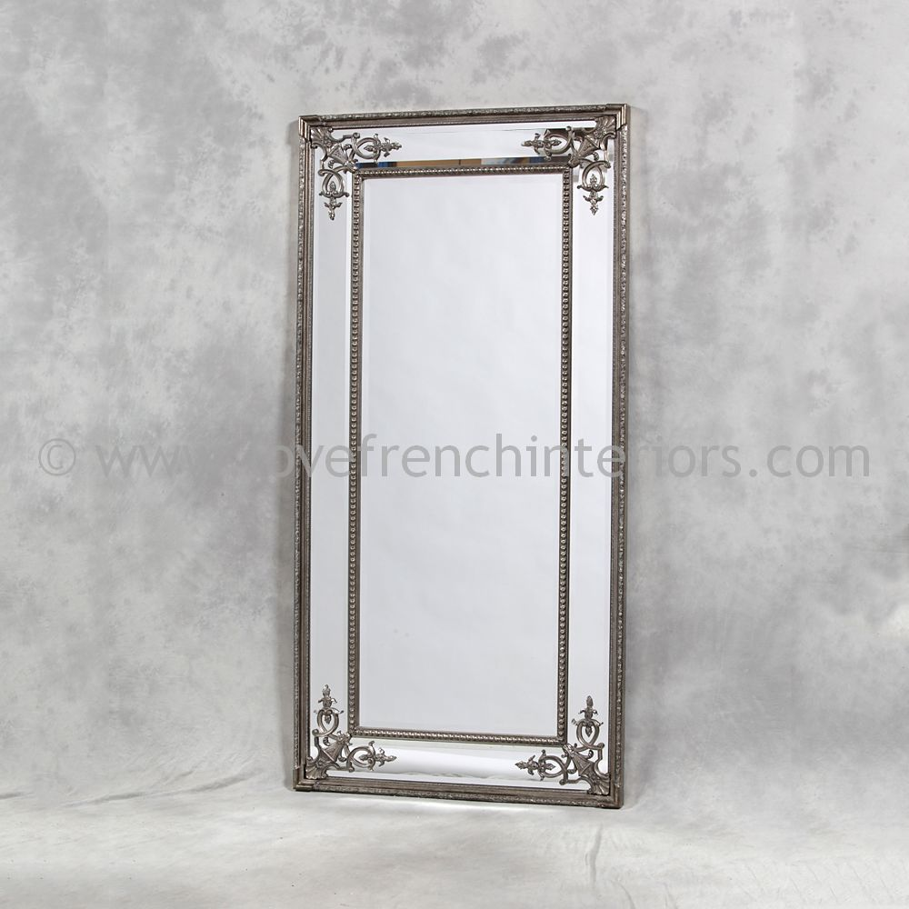 Silver French Tall Slim Mirror