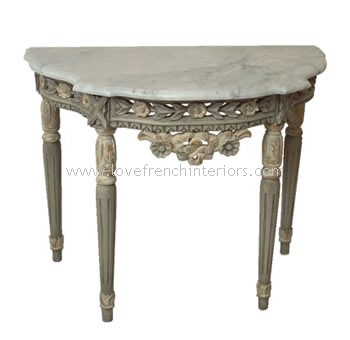 Spencer Console Table with Marble Top