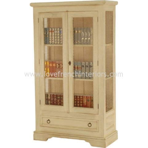Traditional French Display Case with wire or glass