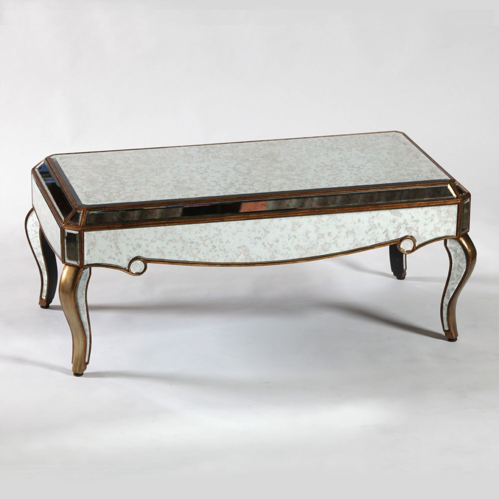 Venetian Antique Mirrored Gold Edged Coffee Table